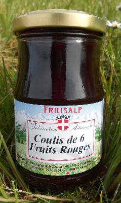 Coulis artisanal de 6 fruits rouges