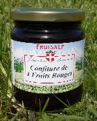 Confiture artisanale de 4 fruits rouges