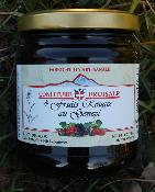 Confiture artisanale de 4 fruits rouges au Génépi
